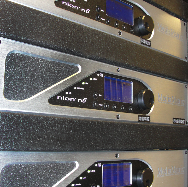 Three Nion Media Matrices were integrated into the system, allowing for superior audio routing, equalization and level adjustments by being interfaced with Control Point's A/V automation software.