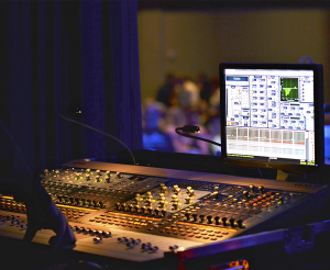 "Complete system control is available to the operators via an Avid ""Profile"" audio console, and an Avolites ""Expert Pro"" lighting console."