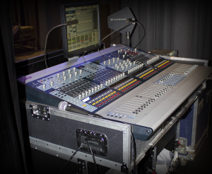 "The Avid ""Mix Rack"" stage monitor console and analog splitter give the monitor operator complete autonomy during the show."