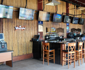 The outdoor patio bar is appointed with 8 LED Smart TV's and Community overhead speakers.