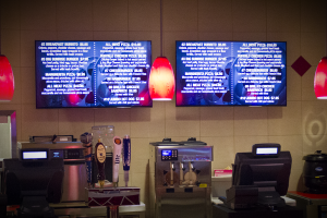 Digital menu boards are used for five of the facilities dining venues. Racing concession uses Brightsign® local network players while the Casino dining area menus are modulated and encoded CastNet® feeds.