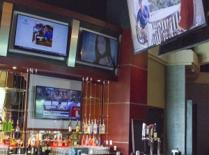 Interior view of the Skybox Sports Bar.