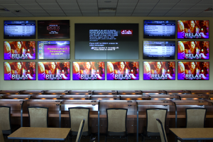 The Simulcast Theater houses 14 - 55 inch HD displays as well as a 2x2 Planar wall easily changed from one 110 inch feed to four unique 55 inch feeds.